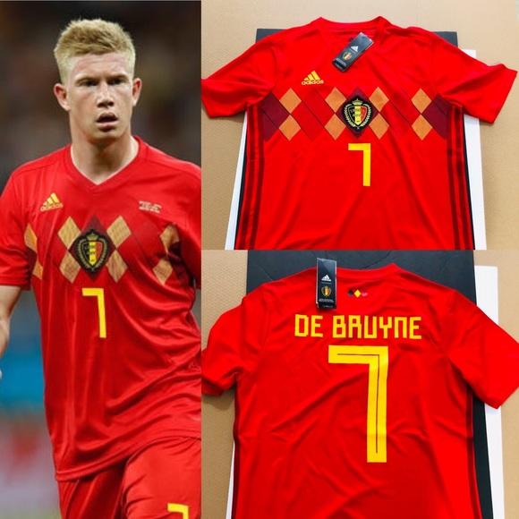 712c00e26 Kevin De Bruyne  7 2018 Soccer Jersey Belgium